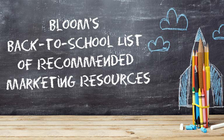 Back-to-School List of Recommended Marketing Resources